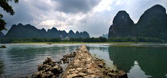 Guilin Yangshuo landskap Royaltyfri Bild