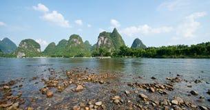 Guilin Yangshuo Scenery. Beautiful river in Yangshuo Guilin in Guangxi province in China Stock Images