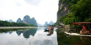 Guilin Yangshuo visitant le pays Images libres de droits