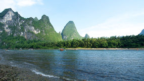 Guilin Yangshuo visitant le pays Photos stock