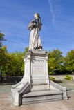 Guillaume Farel Statue in Neuchatel Stock Images