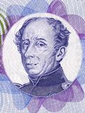 Guillaume Henri Dufour-portret Stock Afbeeldingen
