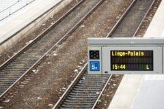 guillemins σιδηροδρομικός σταθμός της Λιέγης Στοκ Εικόνες