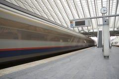 guillemins σιδηροδρομικός σταθμός της Λιέγης Στοκ Φωτογραφίες