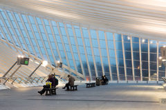 guillemins σιδηροδρομικός σταθμός της Λιέγης Στοκ εικόνες με δικαίωμα ελεύθερης χρήσης