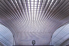 Guillemins stacja, Liege, Belgia Fotografia Royalty Free