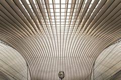 Guillemins station, Liege, Belgien Royaltyfri Bild
