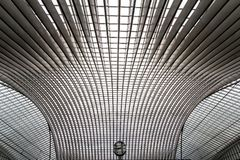 Guillemins station, Liege, Belgien Arkivfoto