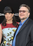 Guillermo del Toro & Lorenza Newton Stock Photo