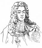 Guillermo III, también conocido como Guillermo de la naranja ilustración del vector