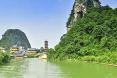 Guillin China Seven Star Park and Karst rocks Yangshuo Stock Image