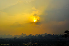 Guillin China Seven Star Park and Karst rocks Yangshuo Stock Photos