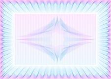 guilloche пустого сертификата детальный высокий Стоковая Фотография RF