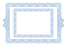 Guilloche. Vector ornamental blue guilloche border Royalty Free Stock Photo
