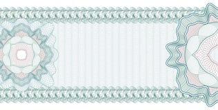 Guilloche Achtergrond voor certificaat, bankbiljet, bon, geldontwerp, munt, nota, controle, kaartje vector illustratie