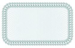 Guilloche Achtergrond voor certificaat, bankbiljet, bon, geldontwerp, munt, nota, controle, kaartje royalty-vrije illustratie