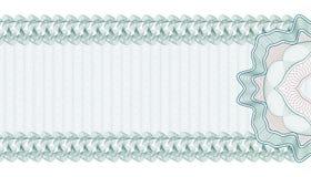 Guilloche Achtergrond voor Giftcertificaat, Bon of Bankbiljet, malplaatje royalty-vrije illustratie
