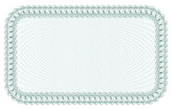 Guilloche Background for certificate, banknote, voucher, money design, currency, note, check, ticket. Stock Photo