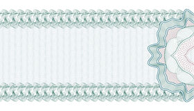 Guilloche Background for Gift Certificate, Voucher or Banknote, template. Royalty Free Stock Image