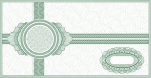 Guilloche bon royalty-vrije illustratie