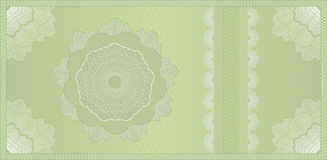 Guilloche bon, bankbiljet of certificaat Royalty-vrije Stock Fotografie