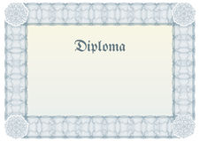 Guilloche border for diploma or certificate Stock Photos