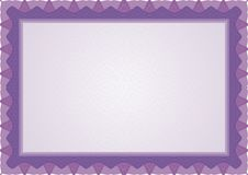 Guilloche border for diploma or certificate. Purple guilloche Frame or Border suitable for diploma or certificate / A4 size Stock Photos
