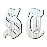 Guilloche brieven Stock Afbeelding