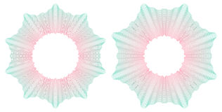 Guilloche circular pattern rosette. Vector illustration. Stock Photography
