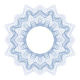 Guilloche decorative element for design certificate, diploma and bank note Royalty Free Stock Photos