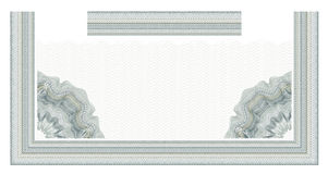 Guilloche decorative element for design certificate, diploma and bank note Royalty Free Stock Photo