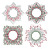 Guilloche decorative elements Royalty Free Stock Photo