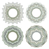 Guilloche decorative elements Royalty Free Stock Images