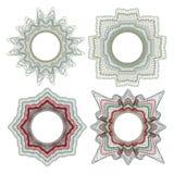 Guilloche decorative elements Stock Image