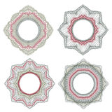 Guilloche decorative elements Royalty Free Stock Image