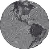 Guilloche Earth Uzumaki Stock Image