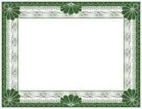Guilloche - frame royalty free stock images