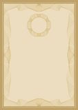 Guilloche  frame. For diploma or certificate Stock Images