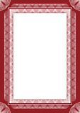 Guilloche  frame. For diploma or certificate Royalty Free Stock Photography