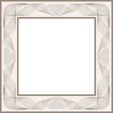 Guilloche  frame. For diploma or certificate Royalty Free Stock Photos