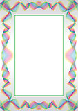 Guilloche  frame. For diploma or certificate Stock Photography