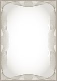 Guilloche  frame. For diploma or certificate Royalty Free Stock Images