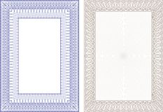 Guilloche  frame. For diploma or certificate Royalty Free Stock Photo