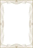 Guilloche  frame for diploma. Or certificate Royalty Free Stock Photo