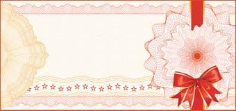 Guilloche-Hintergrund für Geschenk-Bescheinigung Lizenzfreies Stockfoto