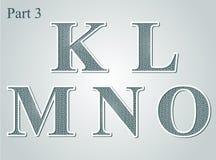 Guilloche märker K L nolla för M N stock illustrationer