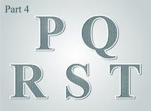Guilloche märker P Q R S T stock illustrationer