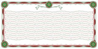 Guilloche: ornamental border and background. Guilloche: decorative border with wavy background, stripes and rosettes for classic diploma, certificate and similar vector illustration