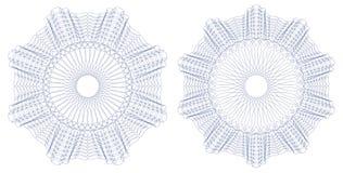 Guilloche patroonrozet Vector illustratie Stock Afbeelding