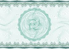 Guilloche pattern with rosette Royalty Free Stock Photos